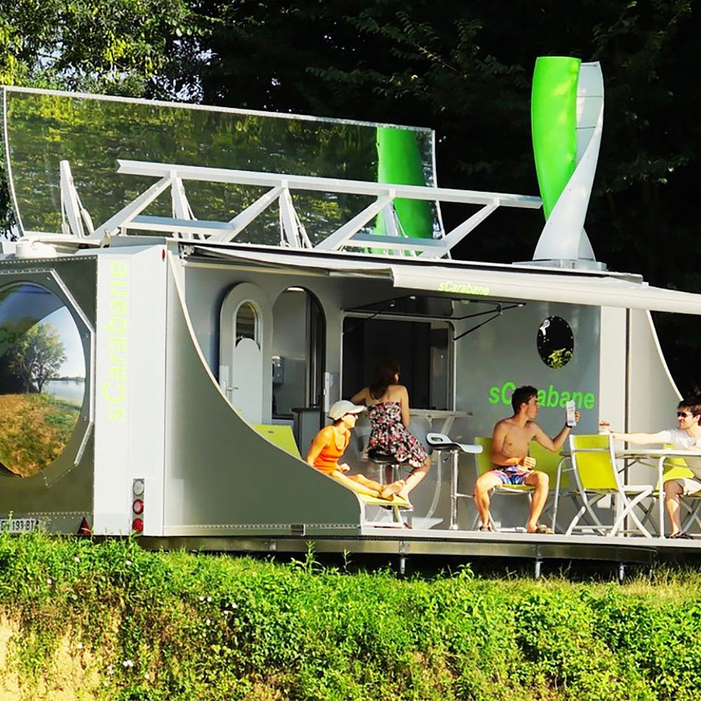 High Tech Camper Unfolds To Reveal A 2 Bedroom Tiny House Curbed Wiring Two Way Light Rose