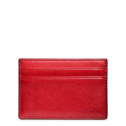 "<a href=""http://www.coach.com/online/handbags/ProductDetailWrapperView?storeId=10551&catalogId=10051&langId=-1&partNumber=74560_cli&cid=D_B_RAC_2956"">Bleecker Leather ID Card Case</a> in chili, $68"