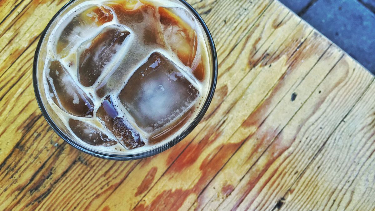 Kitchen Mouse's dandelion almond milk latte.