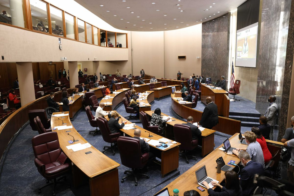 Chicago City Council meeting at City Hall on Tuesday, Sept. 14, 2021.