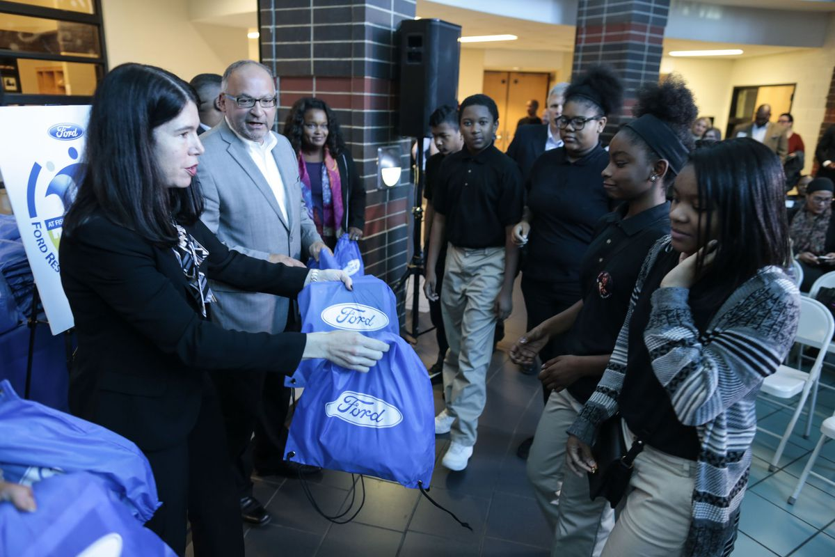 Officials from the Detroit Public Schools and the Ford Fund visited Detroit's Fisher Upper Academy in October to announce a $5 million investment in a new school-based community center. Three months later, the school learned it's in danger of closing.