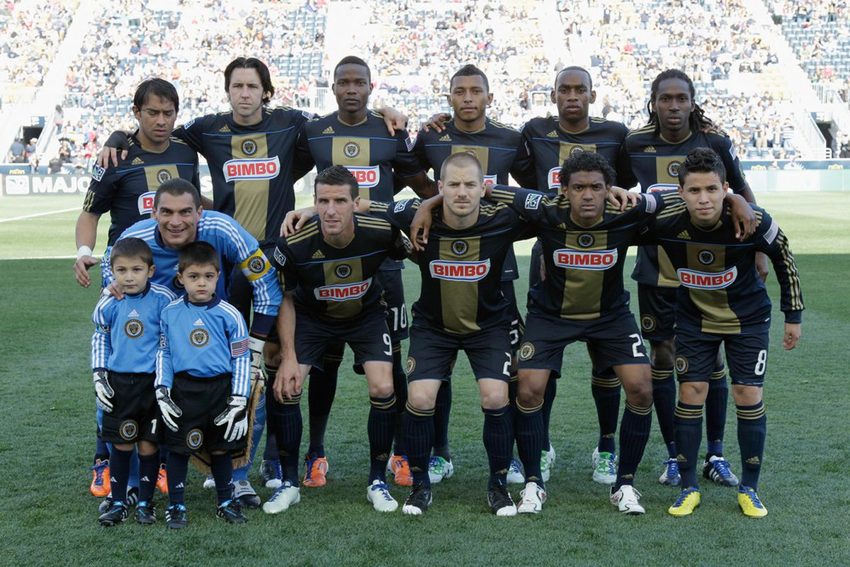 CHESTER, PA - APRIL 30: Members of the Philadelphia Union pose for a photo before the start of their match against the San Jose Earthquakes at PPL Park on April 30, 2011 in Chester, Pennsylvania.  (Photo by Rob Carr/Getty Images)