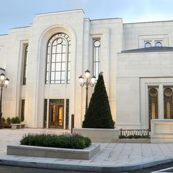 On Sunday, May 21, 2017, President Henry B. Eyring, first counselor in the First Presidency, dedicated of the Paris France Temple of The Church of Jesus Christ of Latter-day Saints.