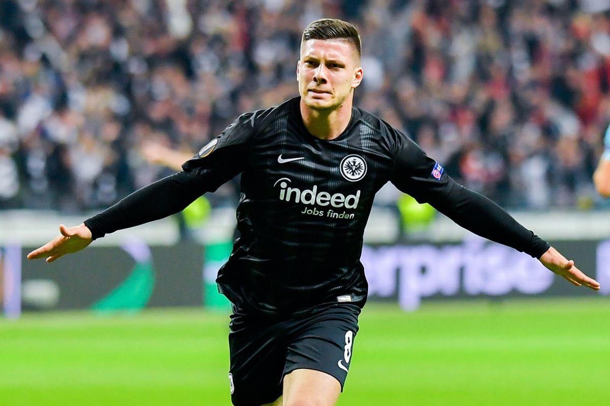 02 May 2019, Hessen, Frankfurt/Main: Luka Jovic opened the scoring in the match between Eintracht Frankfurt and Chelsea.