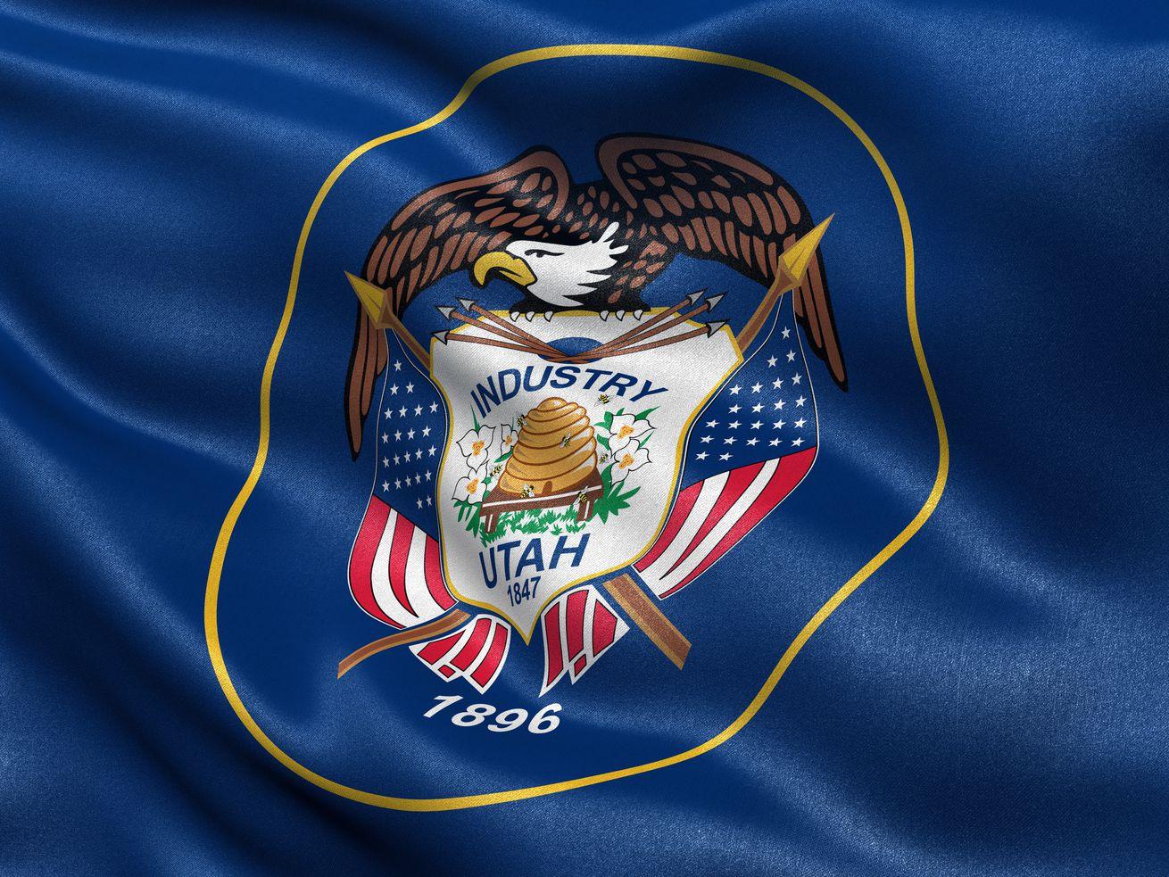 An image of a Utah flag