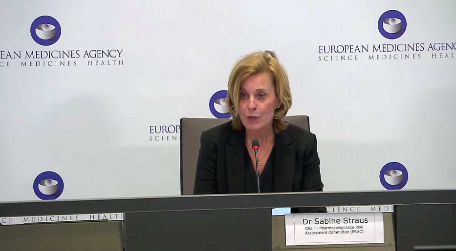 Sabine Straus presents at the European Medicines Agency