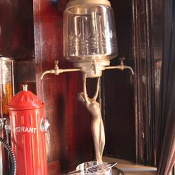 An absinthe fountain that was an opening gift for PX from a Restaurant Eve regular.