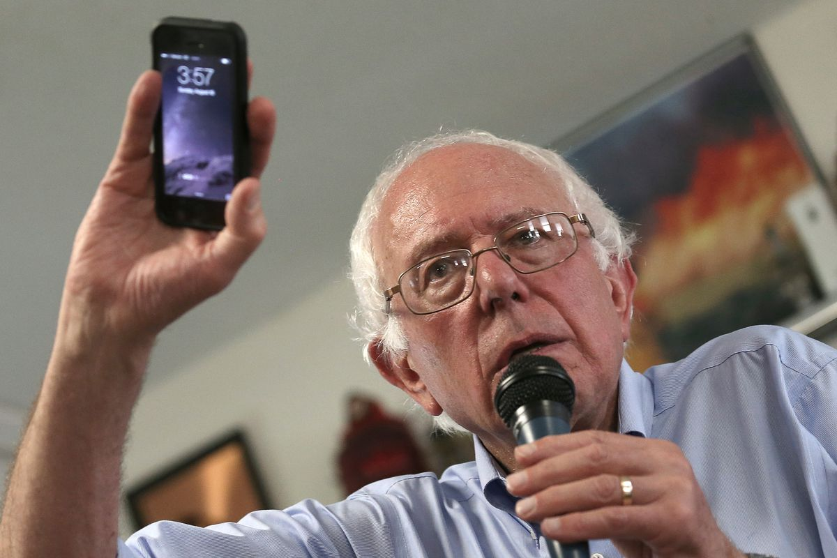 Democratic Candidate For President Bernie Sanders Campaigns In Iowa