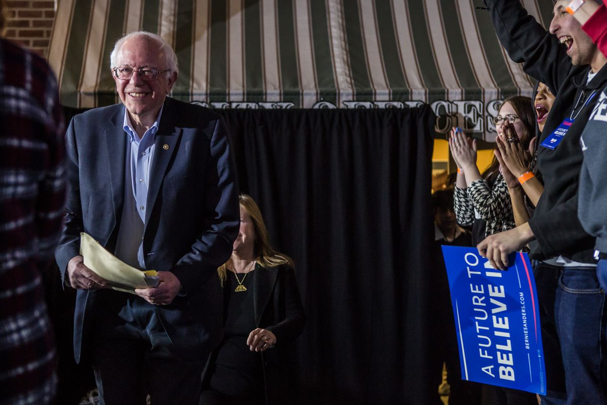 Democratic Presidential Candidate Bernie Sanders Holds Campaign Event In Mason City