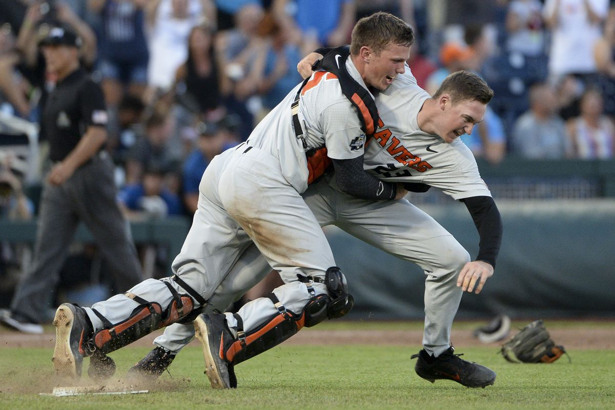 NCAA Baseball: College World Series Championship-Arkansas vs Oregon State
