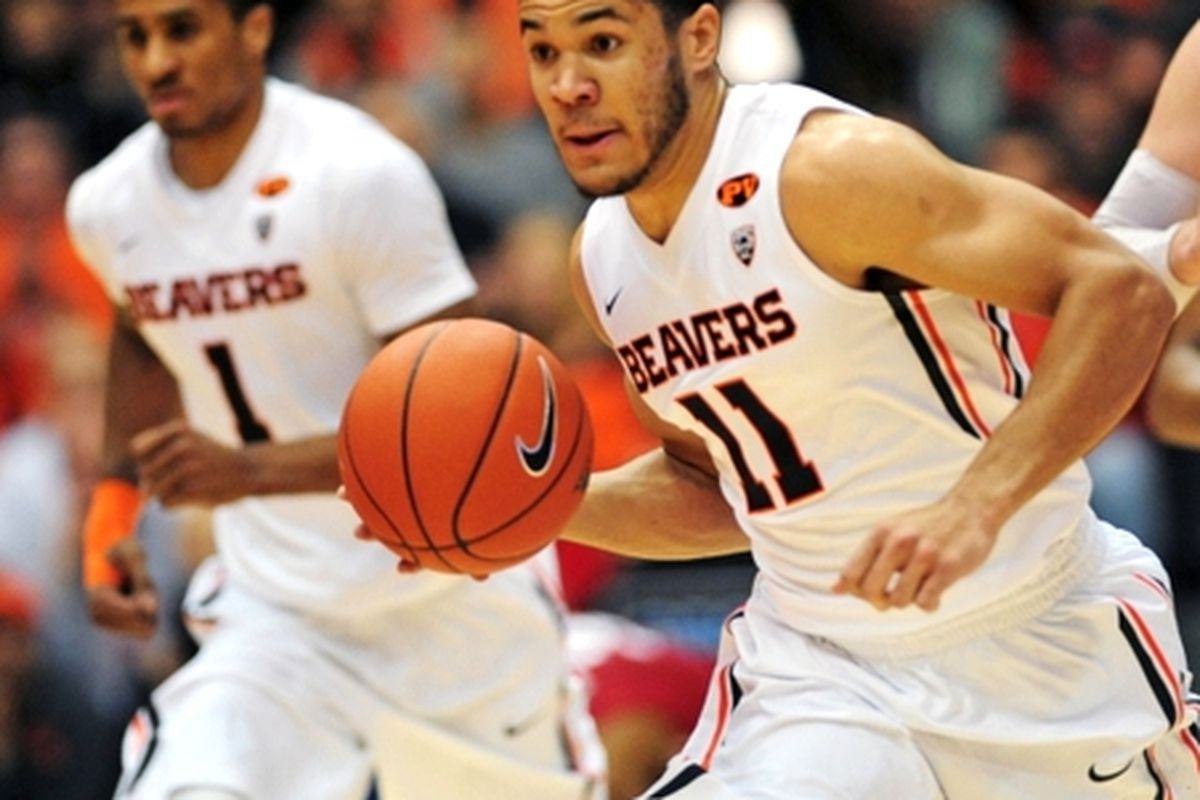 Malcolm Duvivier and Gary Payton II will be looking to push the Beavers past the Huskies this afternoon.