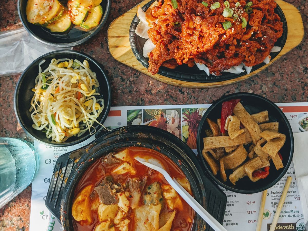 Dishes from BCD Tofu House