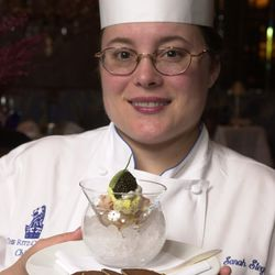 Sarah Stegner with a caviar and lobster dish in 2006.   Jim Frost  Sun-Times
