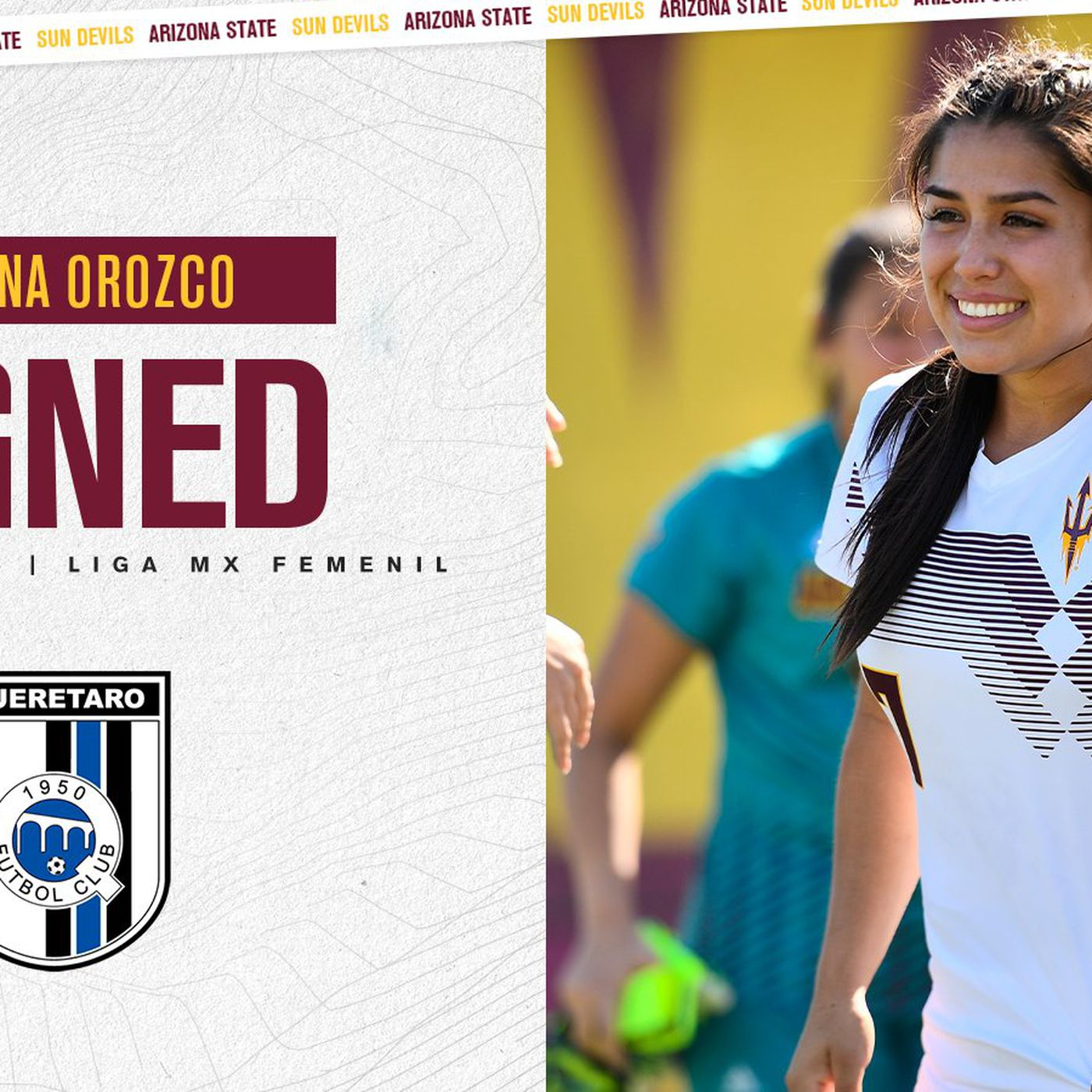 ASU Soccer Former Sun Devil Adriana Orozco Signs With Liga MX Femenil House Of Sparky