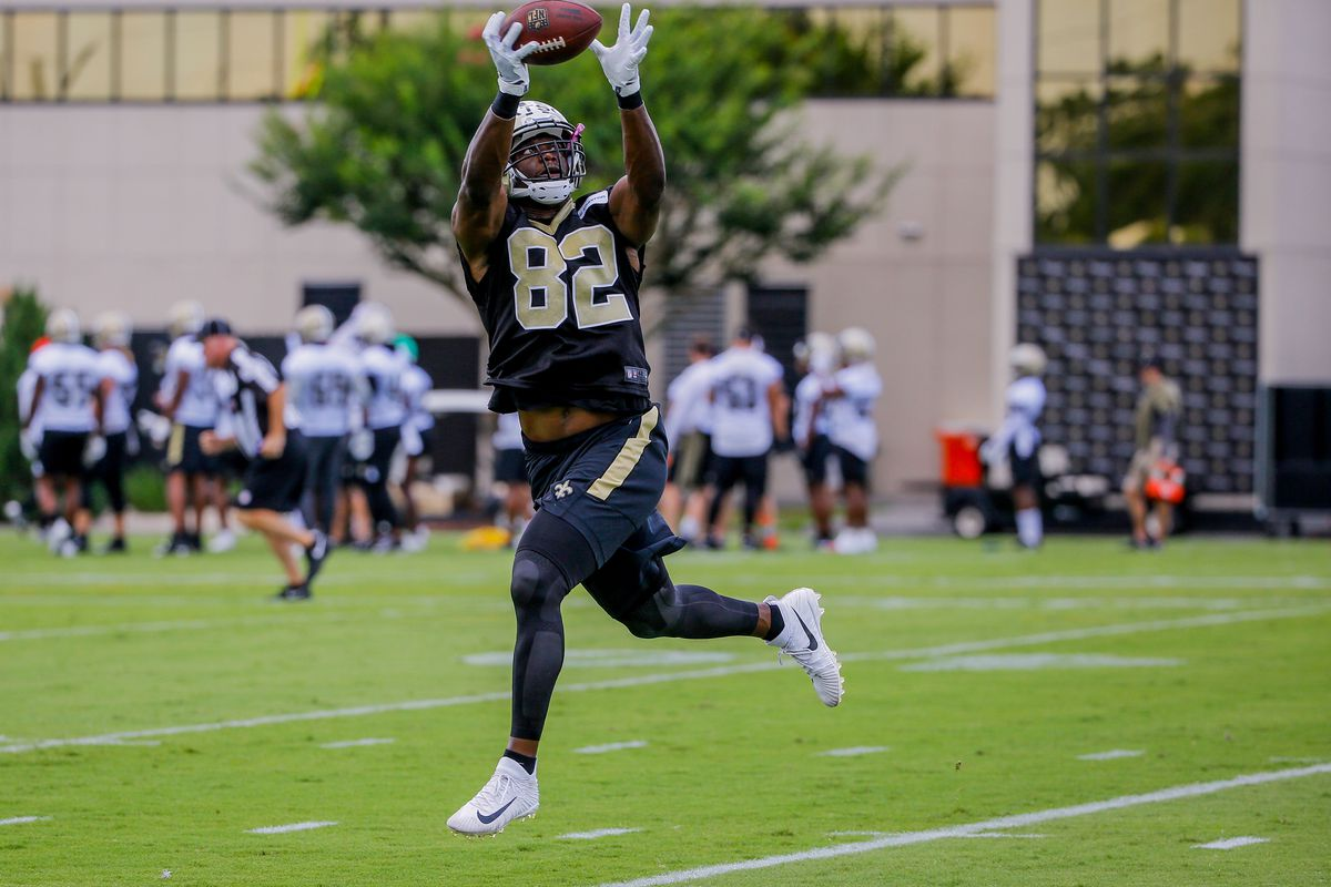 ee5dc3fa7e7 2018 New Orleans Saints Training Camp Preview  Tight End - Canal ...
