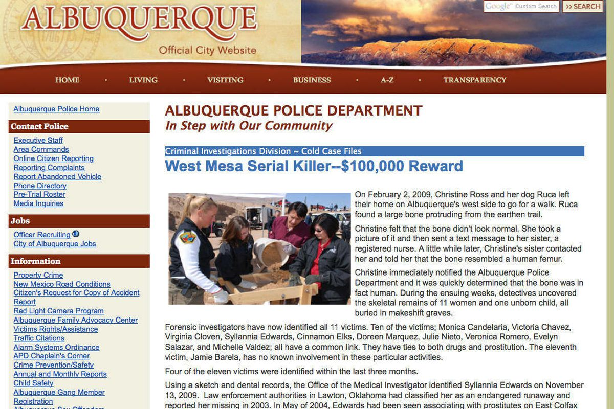 West Mesa Murders Website Launched To Yield Tips Deseret News