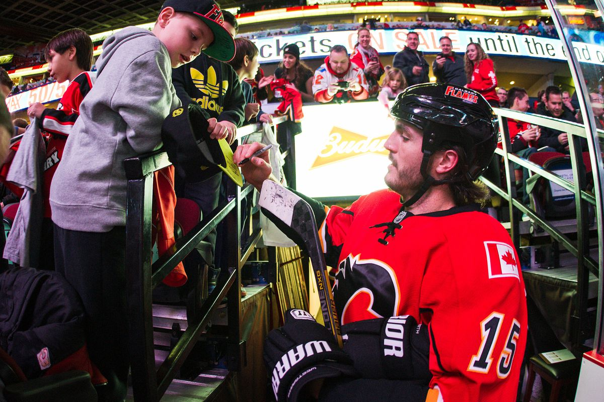 The most talented player on the Flames. Not Kevin Westgarth -- I'm talking about the little kid.
