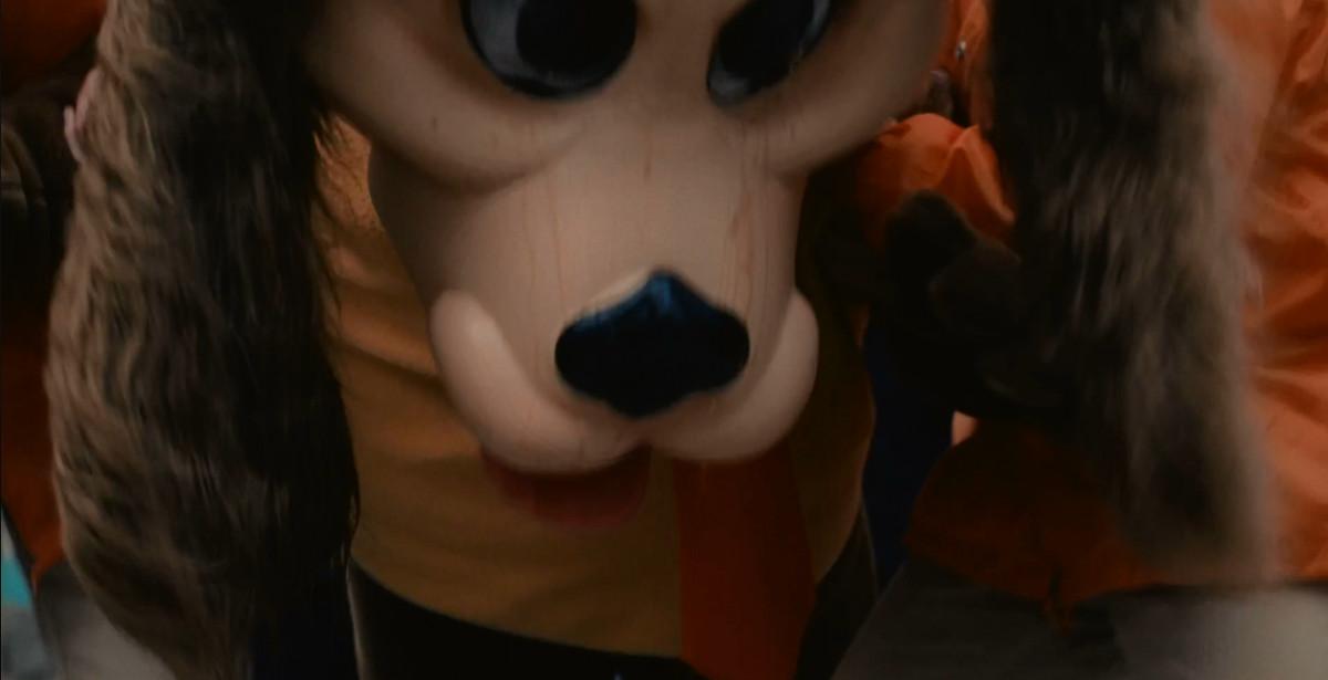 An animal mascot costume