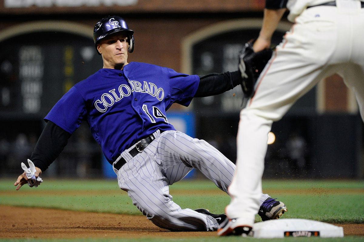 There's not a lot to say about Mark Ellis beyond the likely and disappointing possibility that his average 2011 with the Rockies may still represent significantly better production than any second baseman we use in 2012.