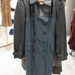 Burberry forest green trench, $599.50