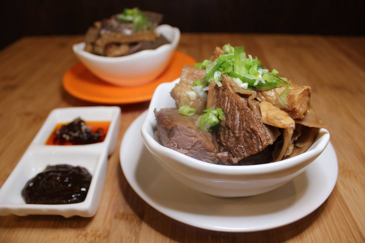 Beef brisket and beef tripe at the Hot Spot
