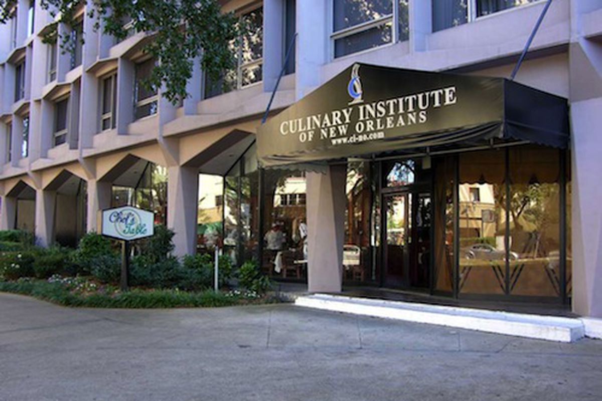 The Culinary Institute of New Orleans, once on St Charles.