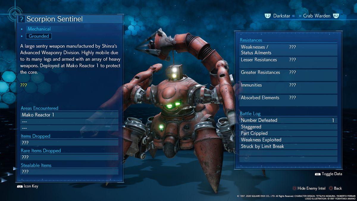 Scorpion Sentinel boss FF7R