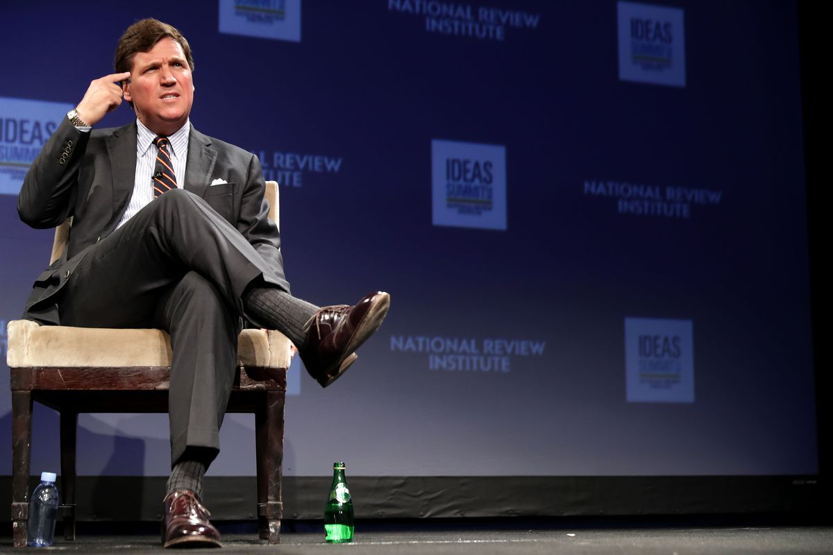 Fox News Host Tucker Carlson Appears At National Review Ideas Summit