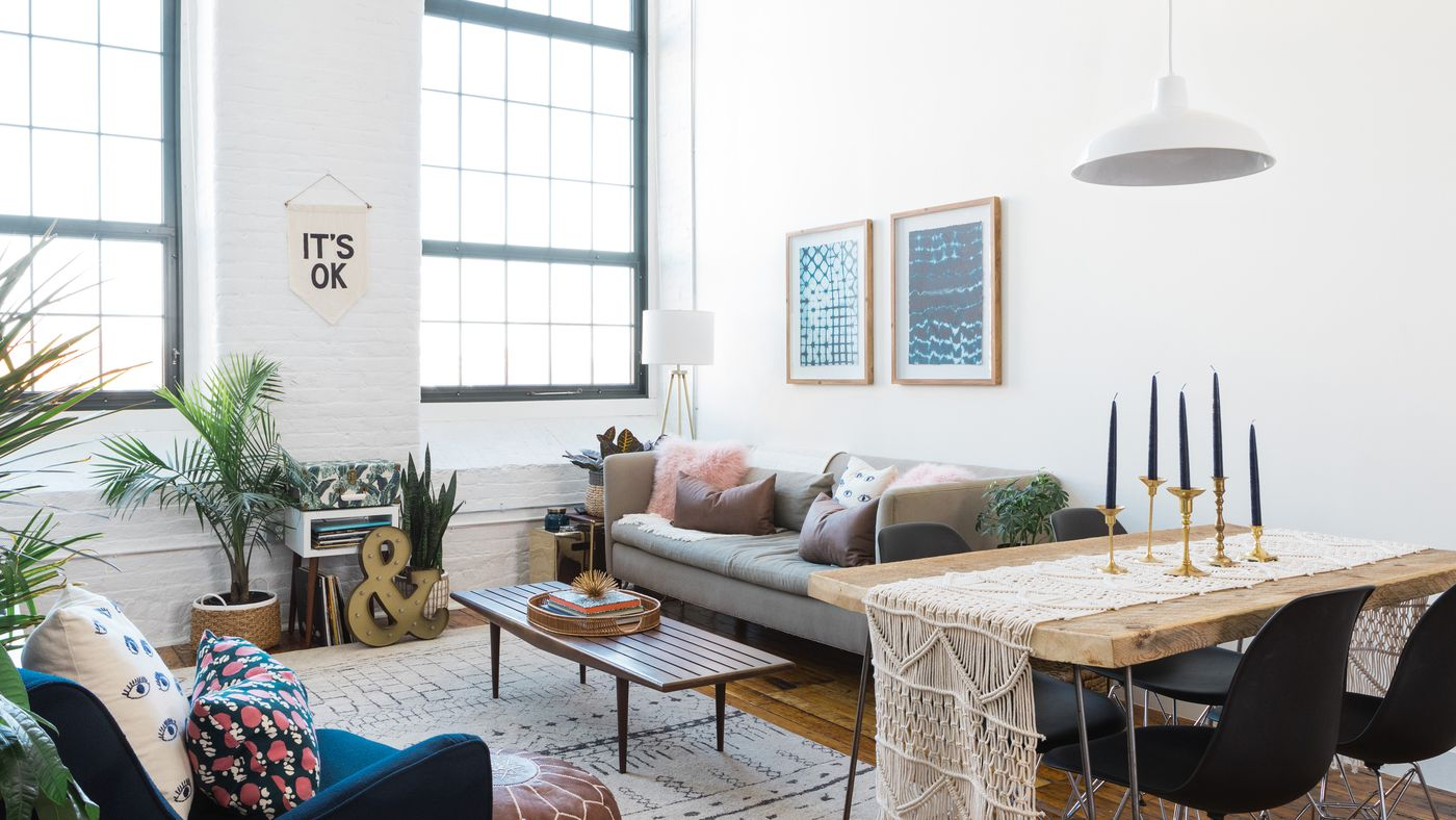 Midcentury modern goes boho in a Providence apartment - Curbed