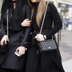 Louis Vuitton (left) and Prada (right);