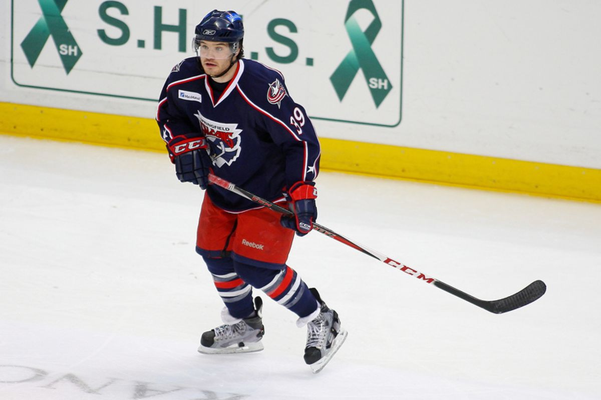 Wade MacLeod skates against Connecticut on Feb. 2.