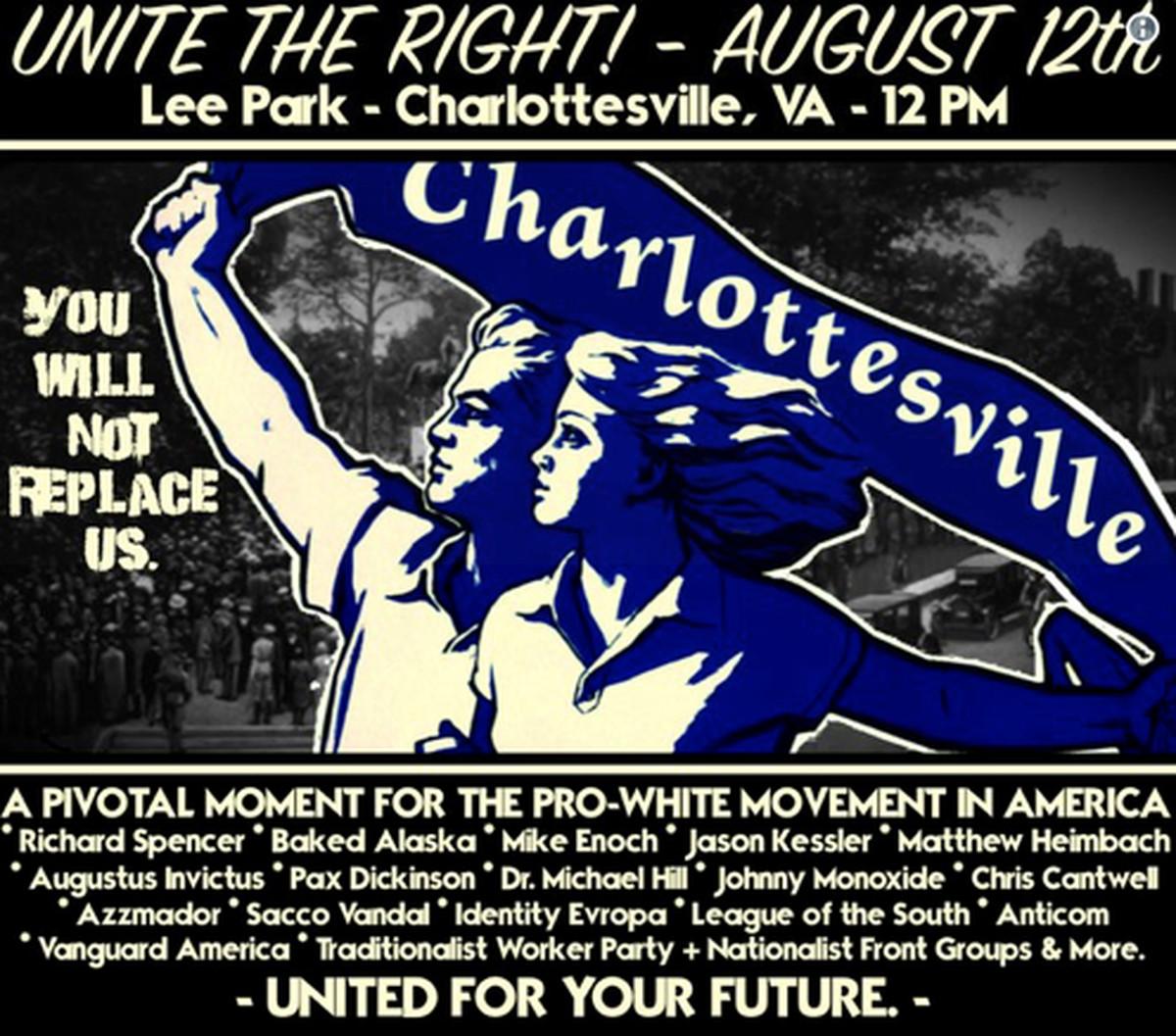 Unite the Right 2017 poster