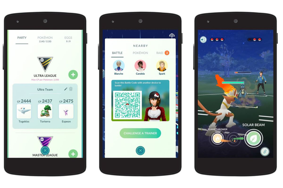 Pokémon Go's PvP Trainer Battles are now live - The Verge