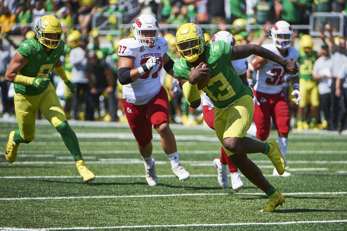 NCAA Football: Fresno State at Oregon