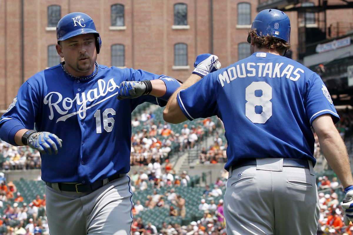 Billy Butler, a scourge of the Orioles since forever. His team was triumphant today.  (Photo by Rob Carr/Getty Images)