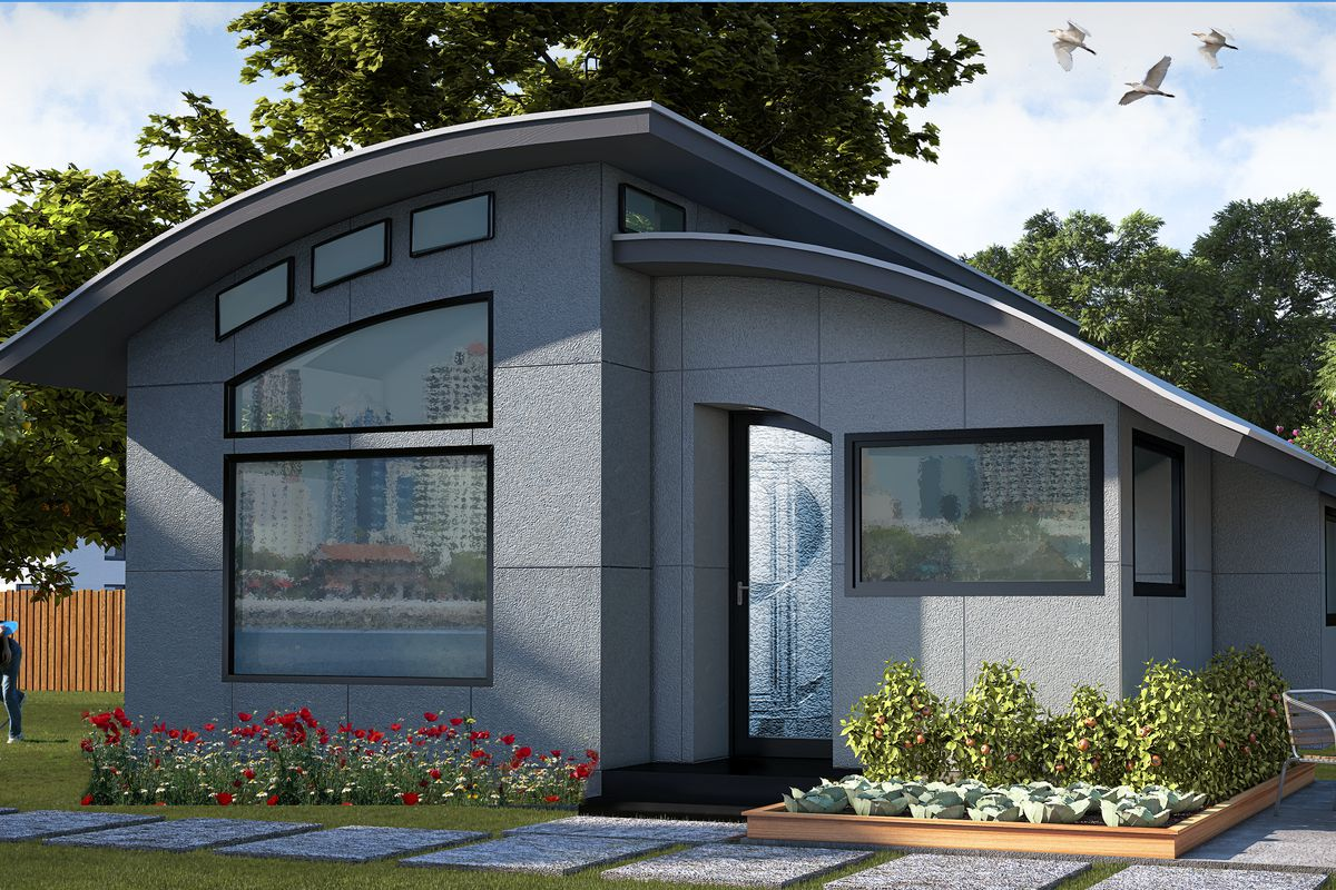 Prefab smart home flex house available to order curbed - Affordable interior design atlanta ...