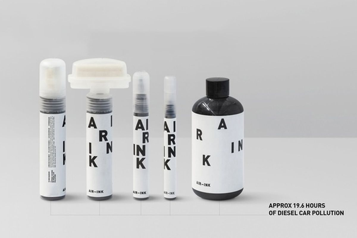 ink products made from car exhaust