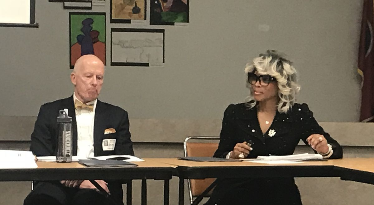 Vanderbilt researcher Gary T. Henry and new ASD Superintendent Sharon Griffin talk about school turnaround work with leaders of Hamilton County's new Partnership Network.