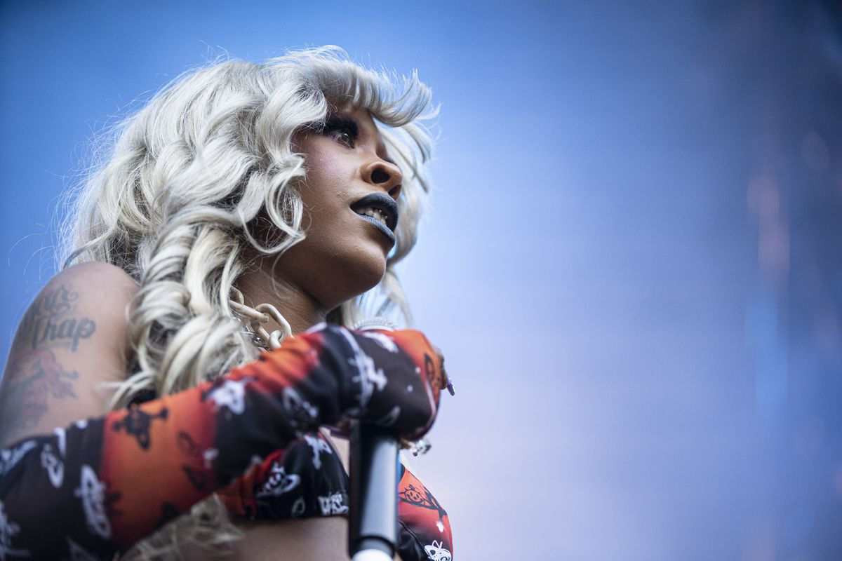 Rico Nasty performs on the final day of Lollapalooza in Grant Park.