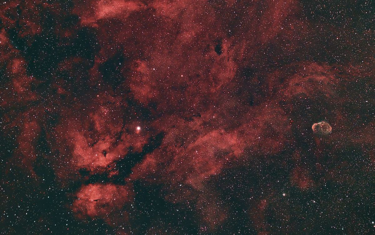 A wide-angle view of the Crescent Nebula, captured by Gian Lorenzo Ferretti on July 2 in downtown Chicago.