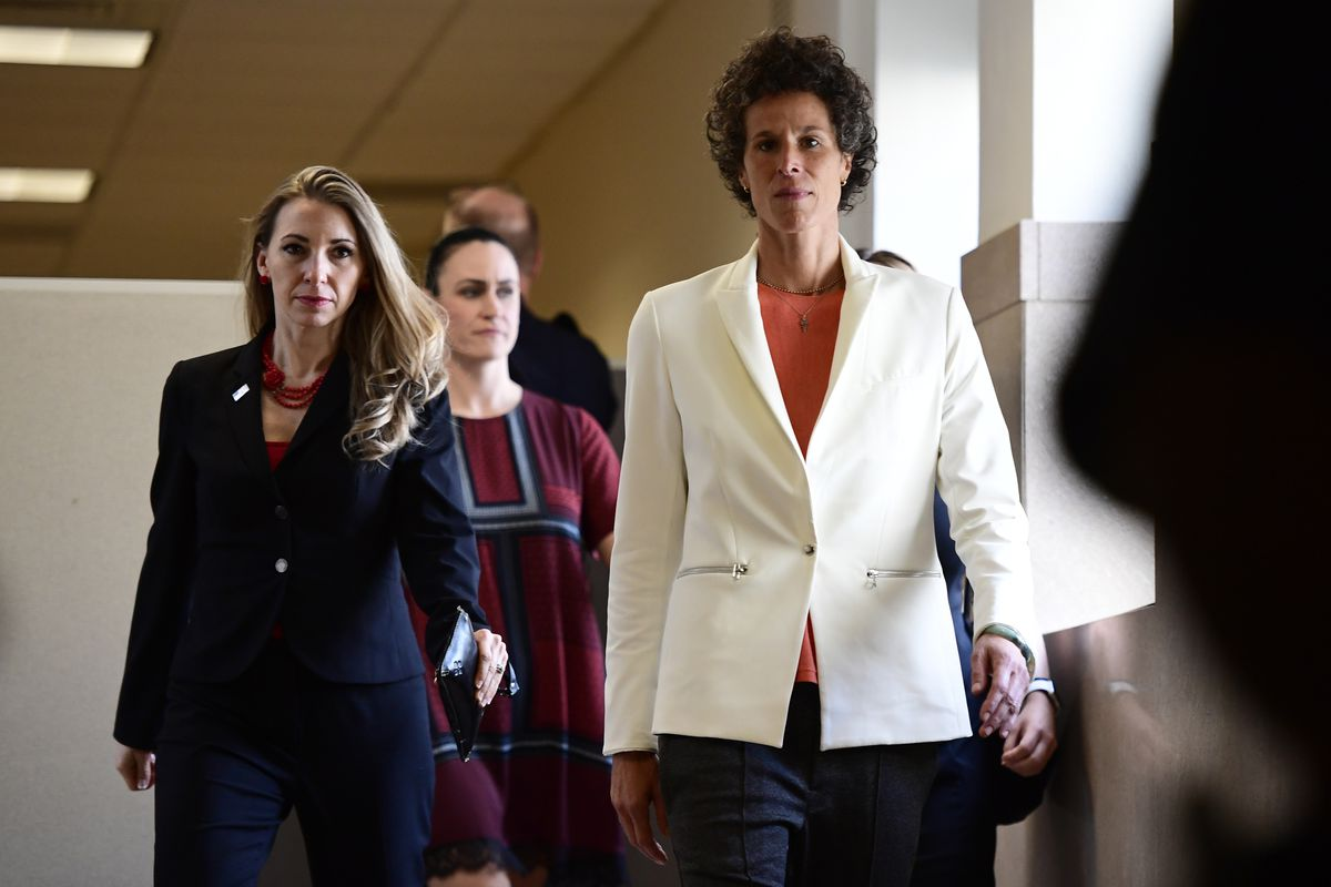 Andrea Constandarrives for the fifth day of Bill Cosby's sexual assault retrial on April 13, 2018