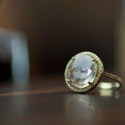 White Topaz and White Sapphire Ring, $1,250 (also available in other stone variations)