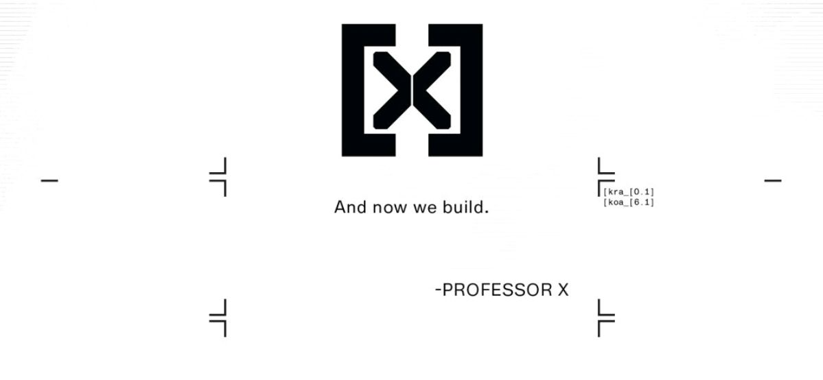 """""""And now we build."""" A quote attributed to Professor Xavier in Powers of X #6, Marvel Comics (2019)."""