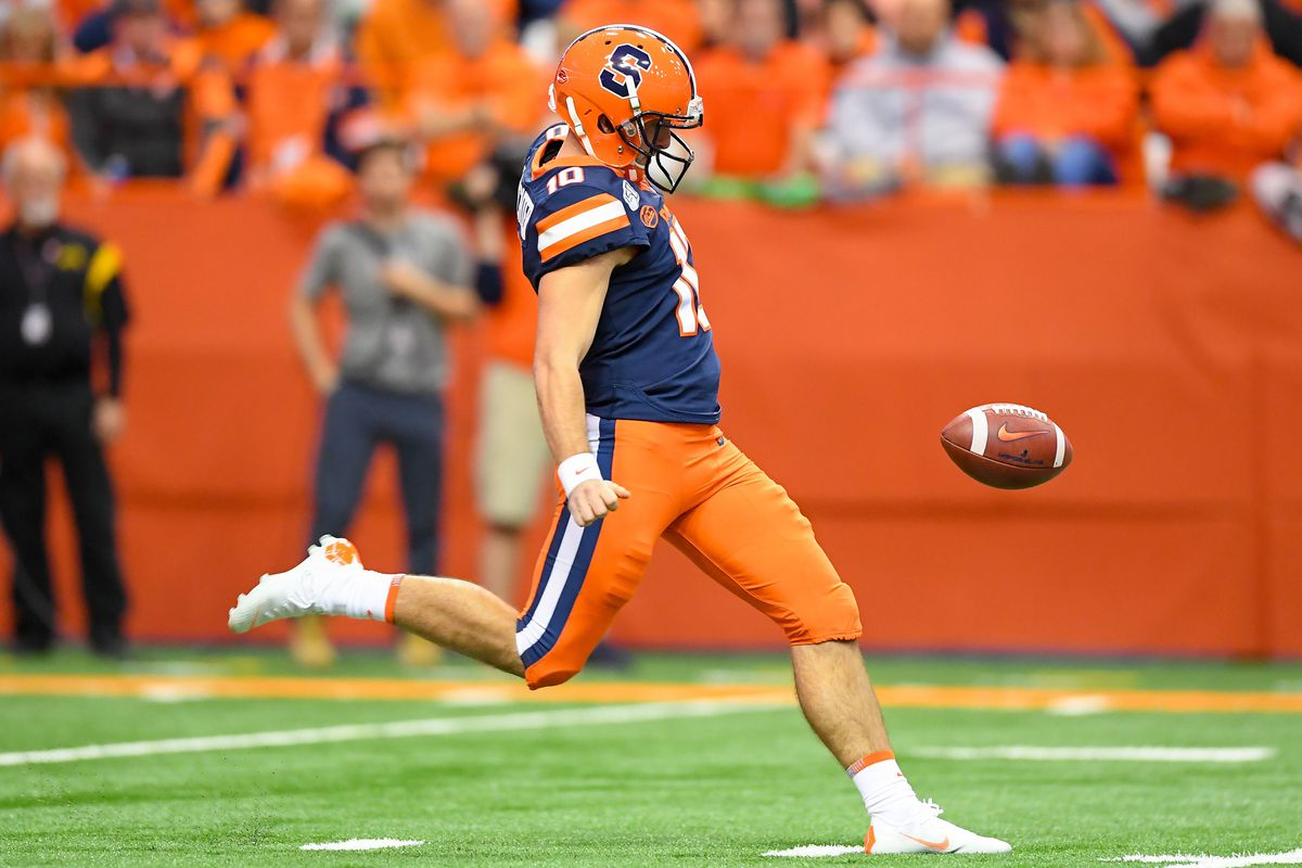 Nfl Draft 2020 Falcons Select Syracuse P Sterling Hofrichter Troy Nunes Is An Absolute Magician