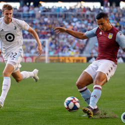 July 17, 2019 - Saint Paul, Minnesota, United States - Aston Villa FC midfielder Jack Grealish (10) dribbles the ball during an international friendly match against Minnesota United at Allianz Field.