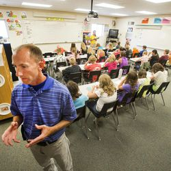 Brandon Maulis, sixth-grade teacher at Butterfield Canyon Elementary in Herriman, talks about what it's like to work with 30 or more students in one class Wednesday, Aug. 28, 2013.