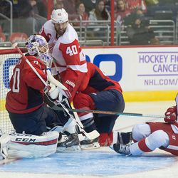 Holtby's Crease Gets Crowded