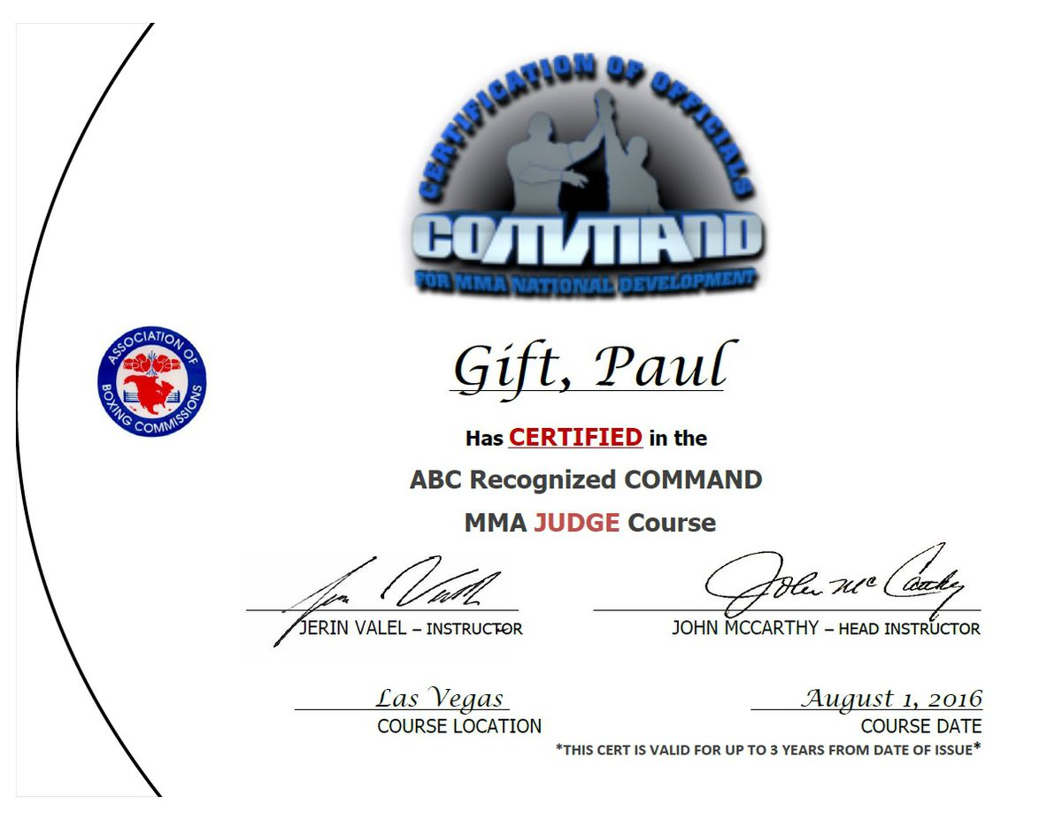 Learning From The Master Part 2 Mma Judge Certification With Big