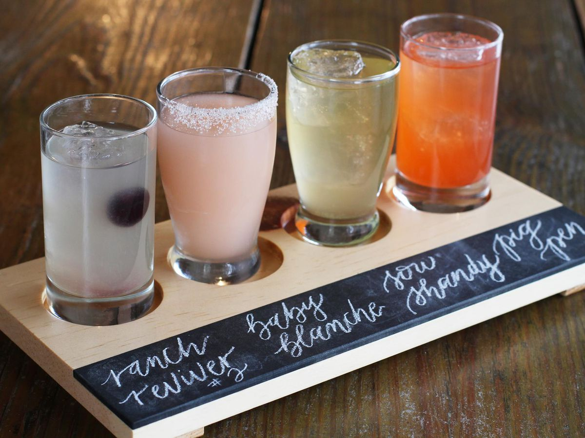 The cocktail flight from Salty Sow