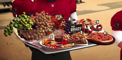 brady food - What the hell was Tom Brady eating in this 'Sunday Night Football' graphic?